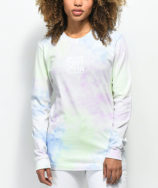 Vans Checkerboard Multi Tie Dye Long Sleeve T-Shirt