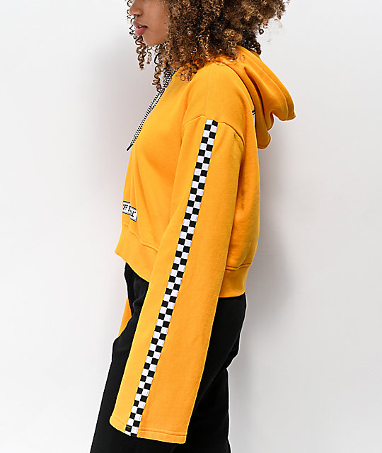 Vans Checkerboard Yellow Crop Hoodie