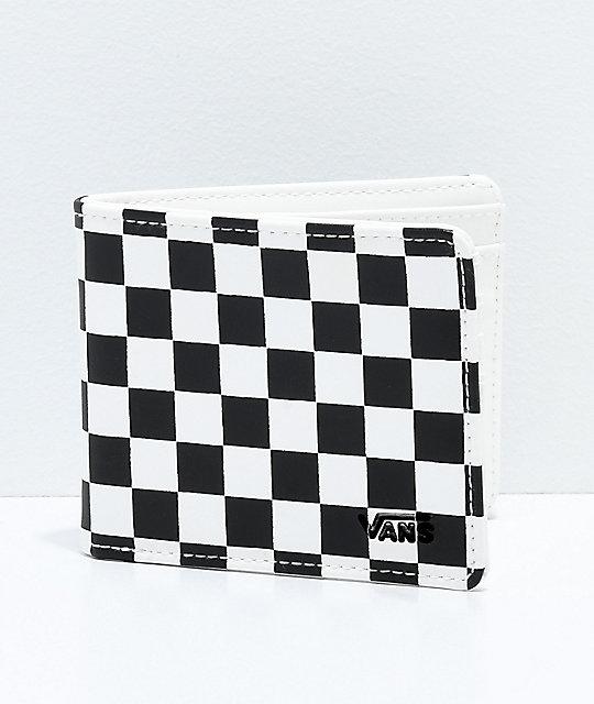 vans checkered black white bifold wallet zumiez