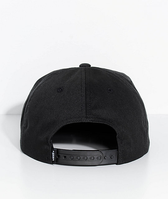 ... Vans Checkered Shallow Unstructured Black Snapback Hat db3f1809a1ef