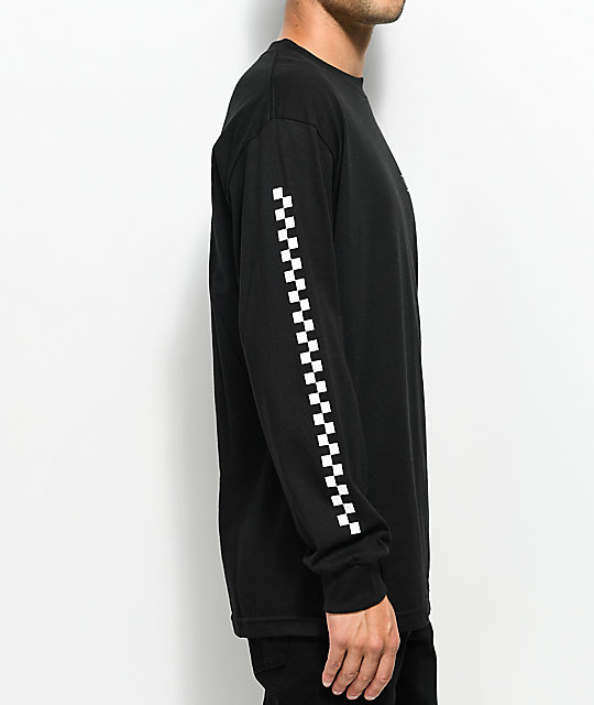 Vans Checkmate Black & White Long Sleeve T-Shirt