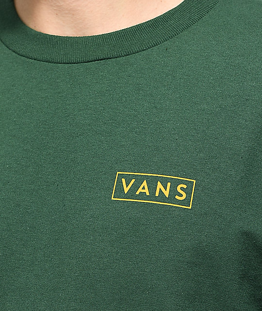 90c61dead4f776 ... Vans Checkmate Green   Yellow Long Sleeve T-Shirt