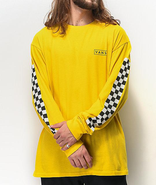 Vans Checkmate Sulphur Long Sleeve T Shirt by Vans