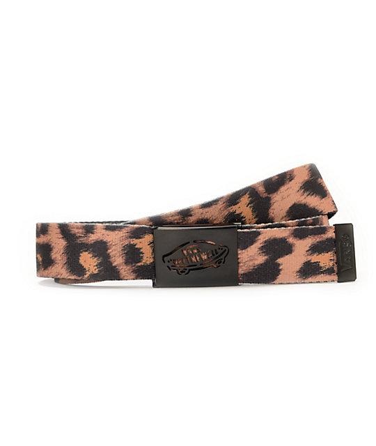 5aa1ce11a6 Vans Cheetah Black Reverse Web Belt