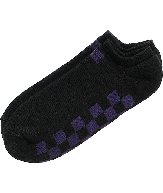 Vans Chex Black & Purple Ankle Socks