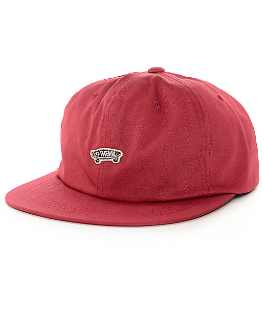 Vans Chili Pepper Unstructured Red Snapback Hat  ccb691621fa