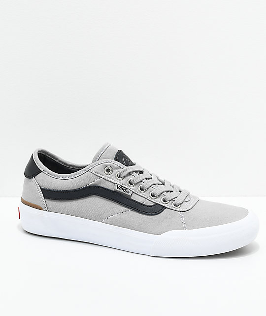 new products shop for authentic women Vans Chima Pro 2 Drizzle, Black & White Skate Shoes