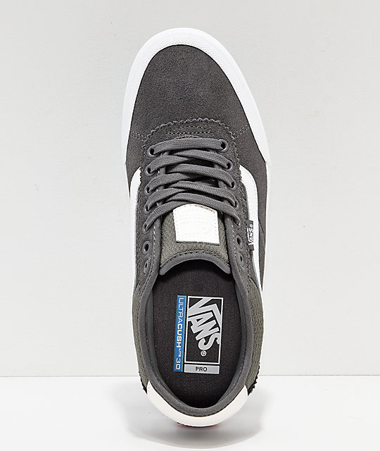 Vans Chima Pro 2 Pewter & White Skate Shoes