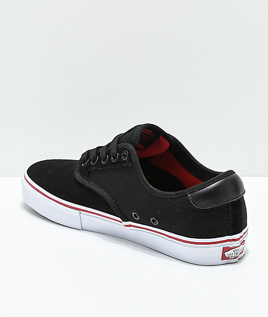 Vans Chima Pro Black, White & Chili Red Skate Shoes