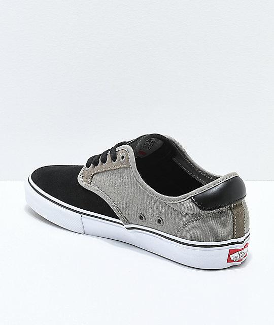 Fallen de skate zapatos Chima Vans amp; Pro Rock Black wFIOq