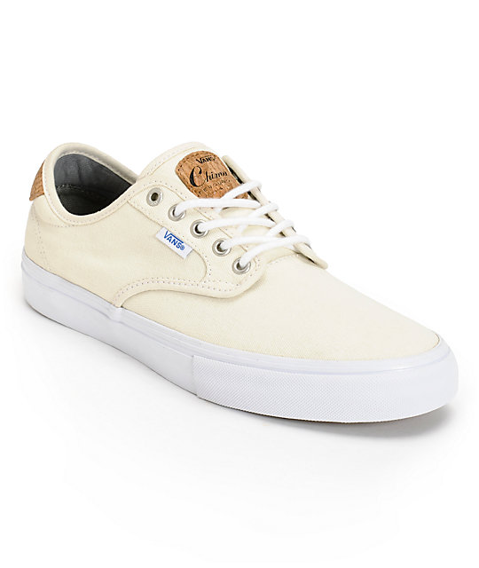 Vans Chima Pro Cork White Canvas Skate Shoes ...