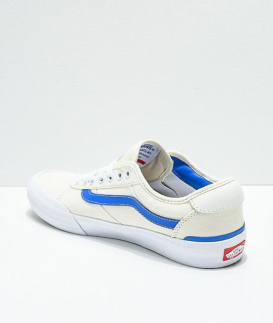 0e7846470c3696 ... Vans Chima Pro II Center Court Blue   White Skate Shoes ...