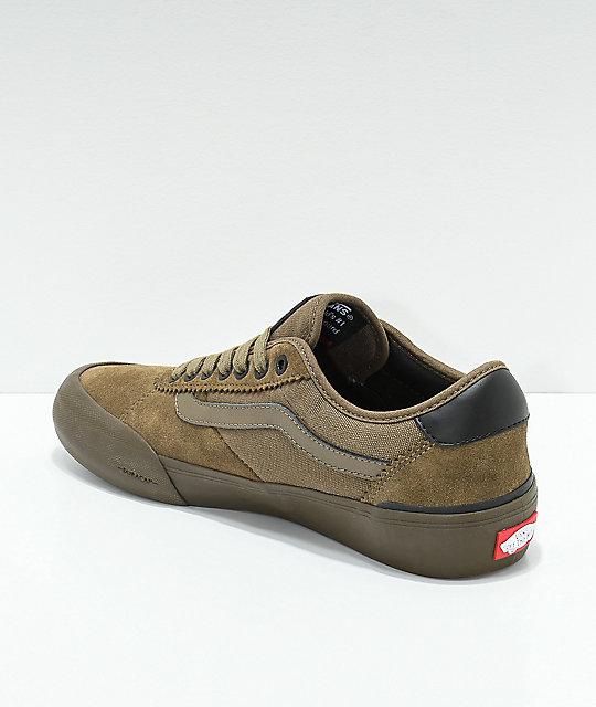 15bc0552e046 ... Vans Chima Pro II Cub Brown   Dark Gum Skate Shoes ...