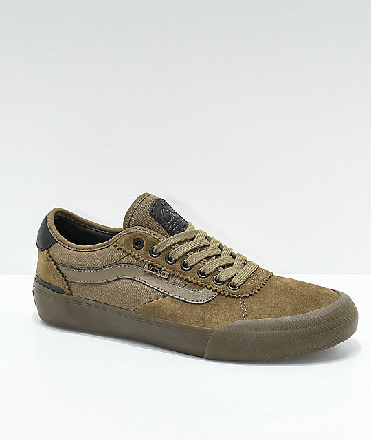 Vans Chima Pro II Cub Brown   Dark Gum Skate Shoes  82dad65106
