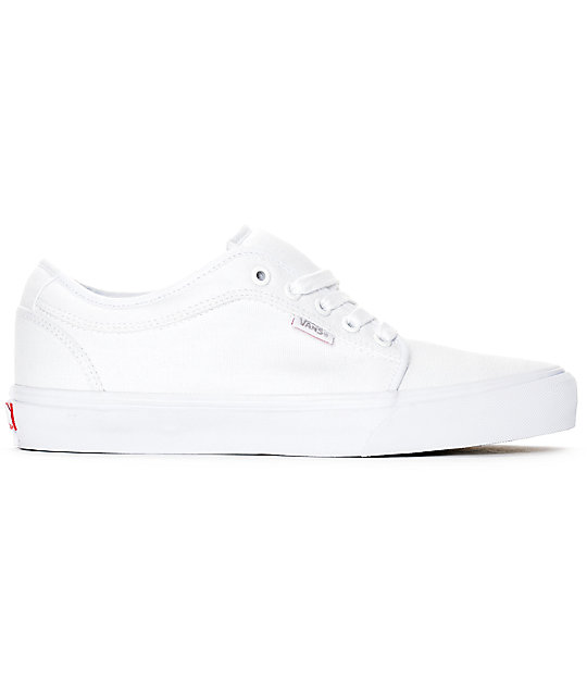 Vans Chukka Low 10 Oz zapatos de lienzo blanco