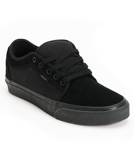 1415a536aae8 Vans Chukka Low All Black Skate Shoes