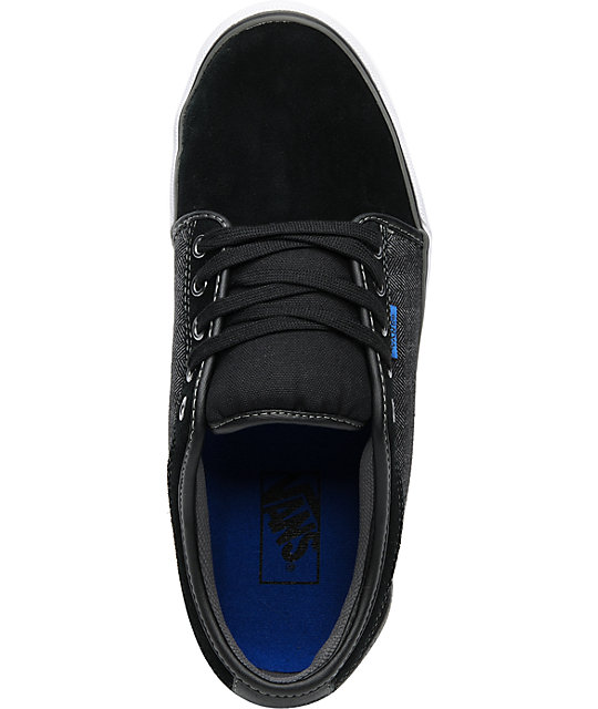 Vans Chukka Low Black & Grey Herringbone Skate Shoes