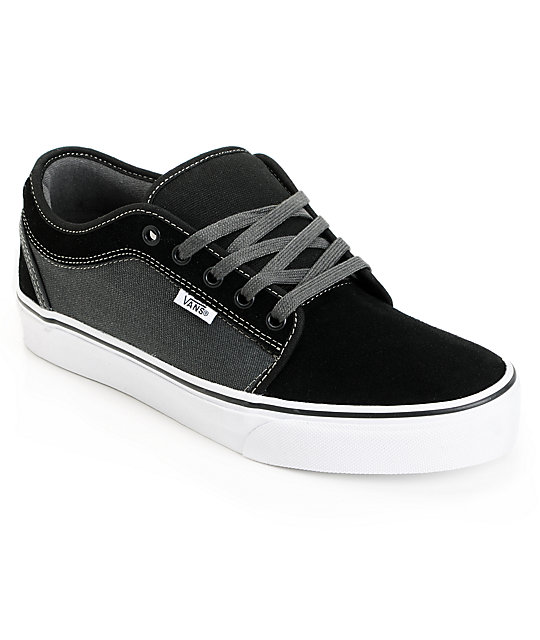 Vans Chukka Low Black & Dark Slate Skate Shoes ...