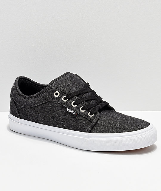 fa2d5506dbcde3 Vans Chukka Low Black Pewter Denim Skate Shoes