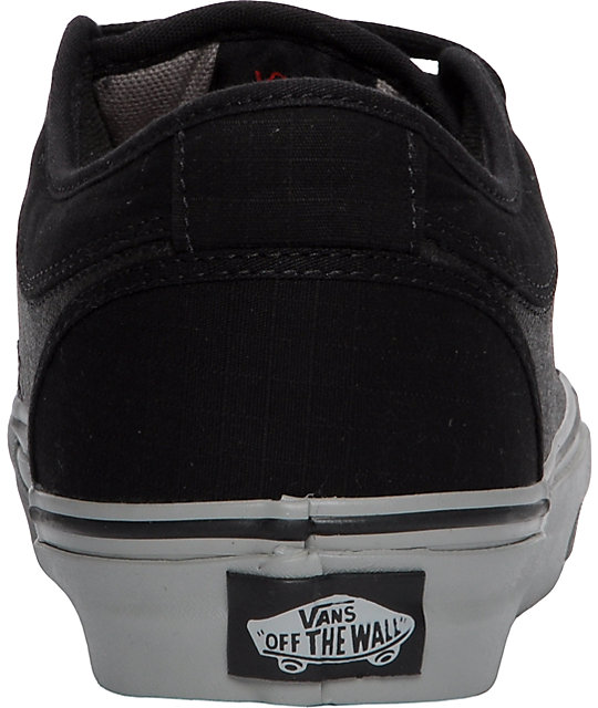 Vans Chukka Low Black Wax, Grey & Red Skate Shoes