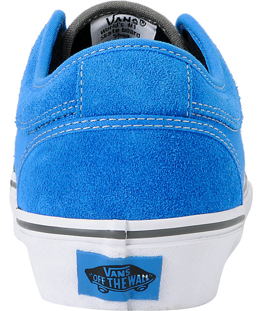 Vans Chukka Low Bright Blue & Pewter Skate Shoes