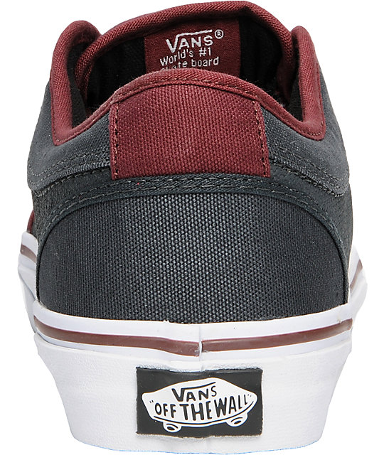 Vans Chukka Low Burgundy & Grey Skate Shoes