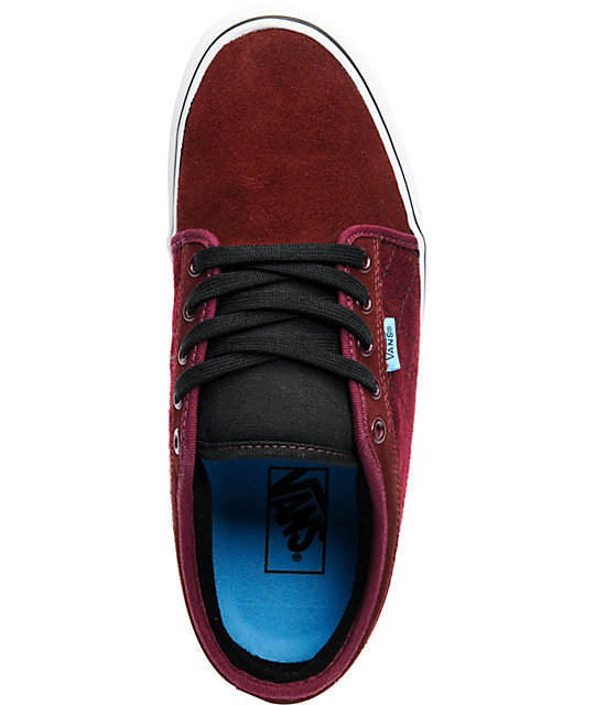 Vans Chukka Low Burgundy Skate Shoes