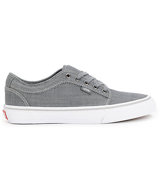 Vans Chukka Low Chambray Grey Skate Shoes