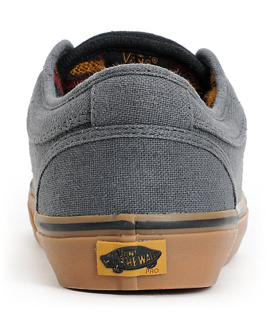 Vans Chukka Low Dark Grey & Gum Mexi Blanket Skate Shoes