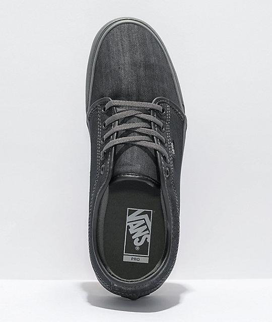 Vans Chukka Low Dark Grey Canvas & Pewter Skate Shoes