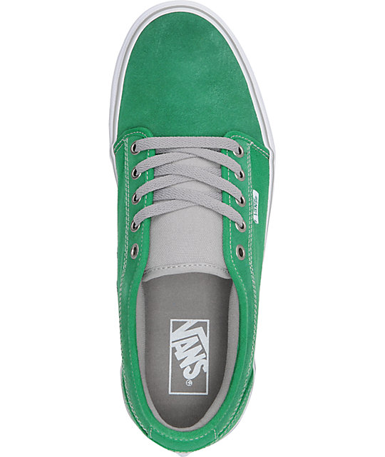 Vans Chukka Low Green & White Skate Shoes