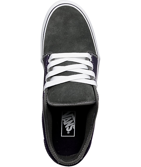 Vans Chukka Low Grey, Purple & White Skate Shoes