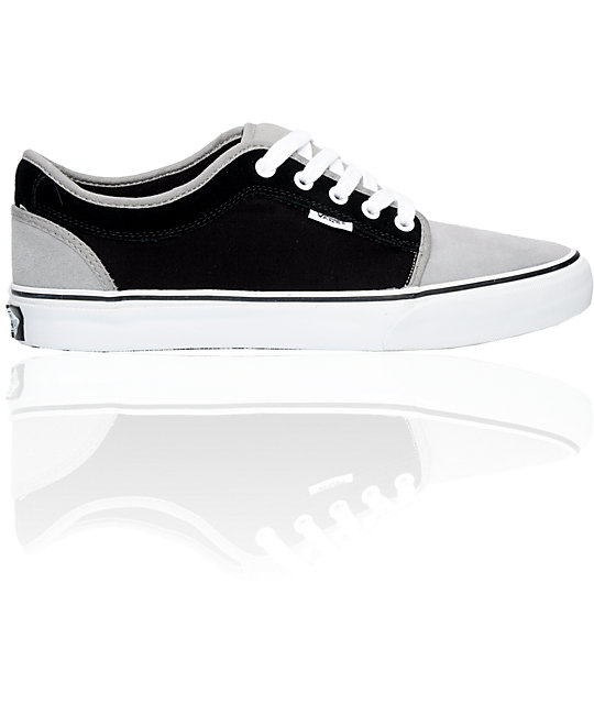 Vans Chukka Low Grey & Black Skate Shoes