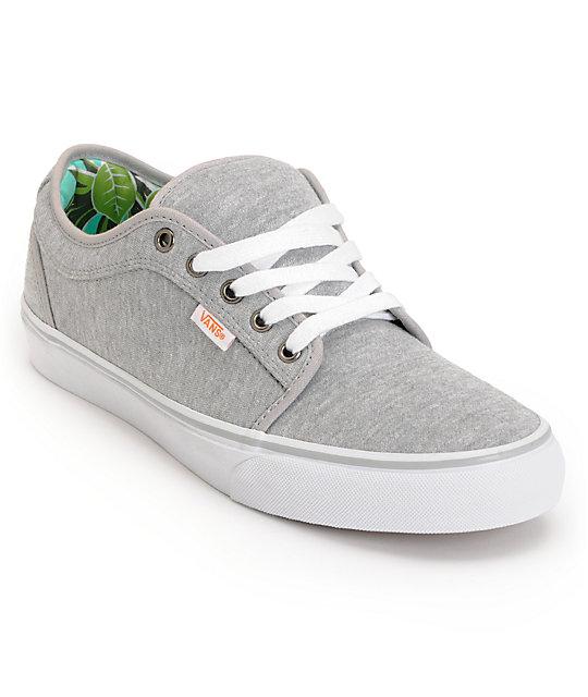 Vans Chukka Low Grey Jersey & Hawaii Mint Skate Shoes ...