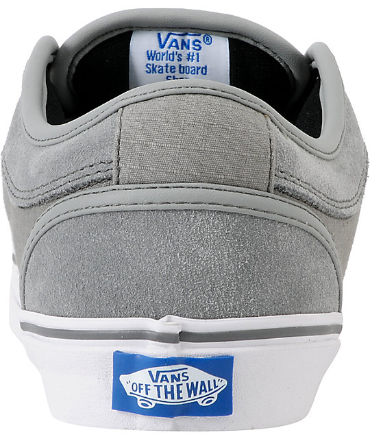 Vans Chukka Low Medium Grey & Ripstop Skate Shoes