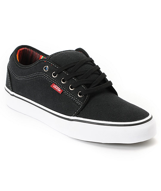 Vans Chukka Low Mexican Blanket Black Canvas Skate Shoes