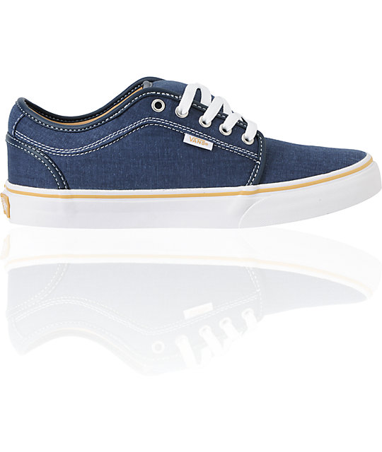 Vans Chukka Low Navy Washed Canvas Skate Shoes