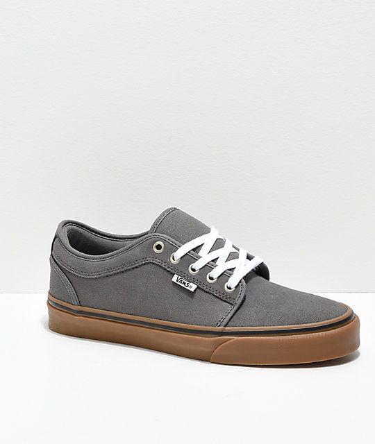 Vans Chukka Low Pewter & Gum Skate Shoes