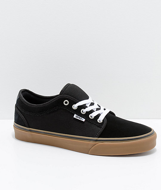 ebf736921f4e3a Vans Chukka Low Pro Black   Gum Skate Shoes