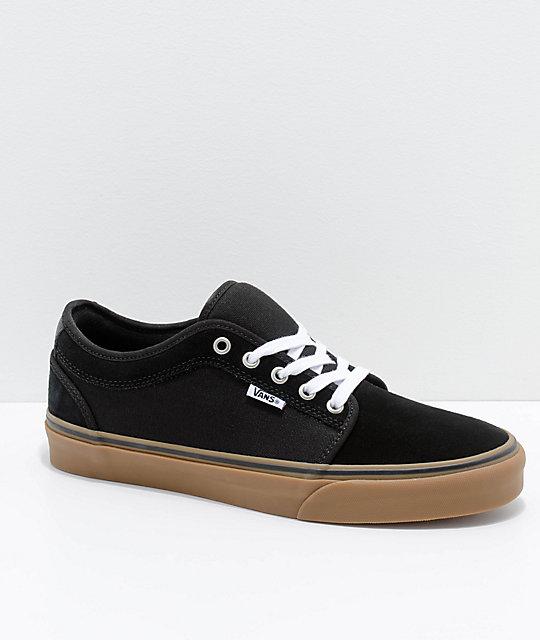 19183670ff3 Vans Chukka Low Pro Black & Gum Skate Shoes