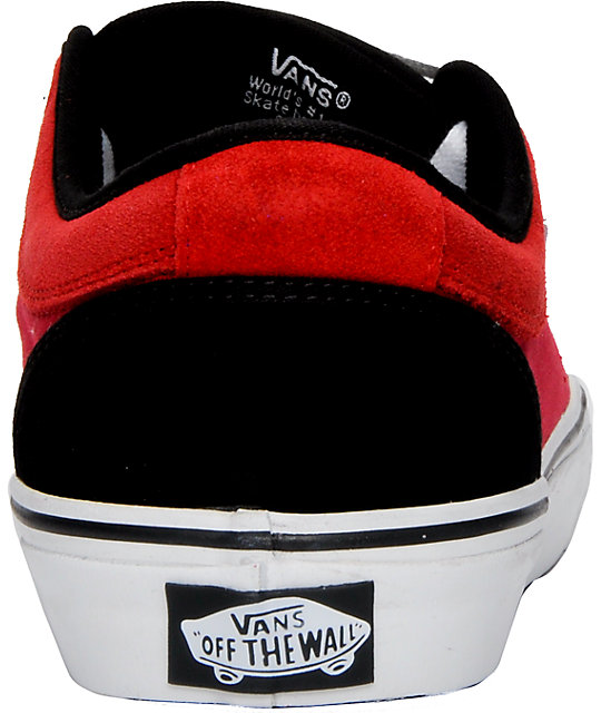 Vans Chukka Low Red, Black & White Shoes