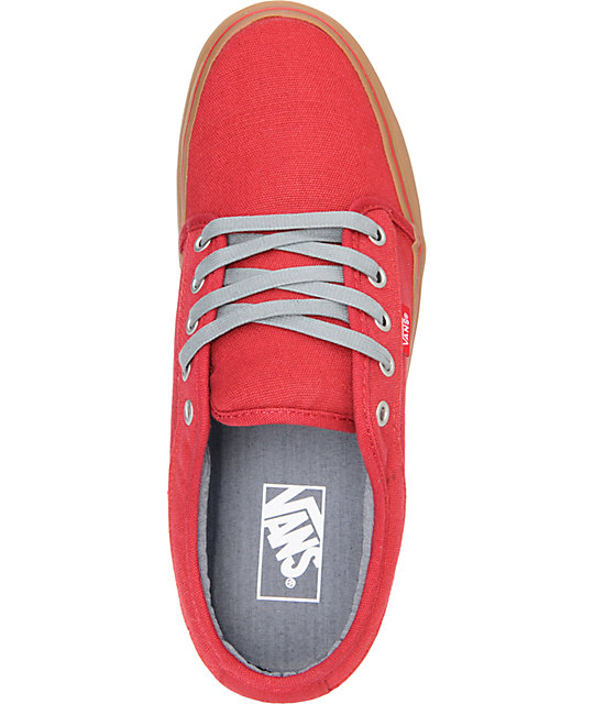 Vans Chukka Low Scarlet Canvas & Gum Skate Shoes