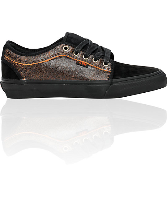 Vans Chukka Low Snow Black & Orange Skate Shoes