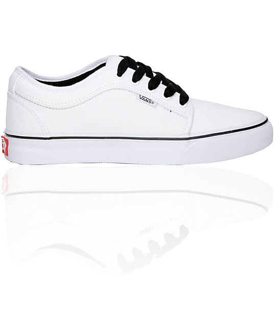 Vans Chukka Low White On White Skate Shoes