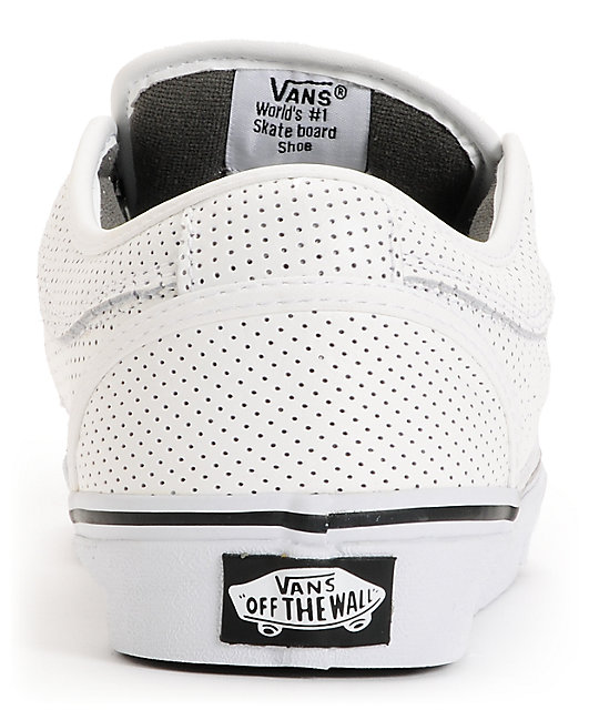 Vans Chukka White Peforated Leather Skate Shoes
