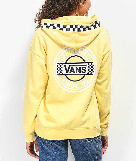 6f8f03c3dc Vans Circle Checkerboard Yellow Hoodie