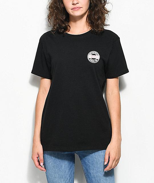 fbd7d55fcbf8 ... Vans Circle Checkered Black Boyfriend T-Shirt ...