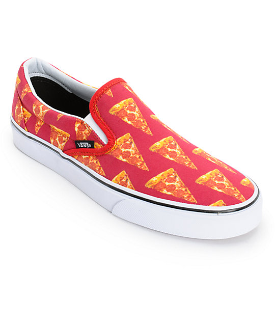 Vans Classic Pizza Mens Slip On Shoes ...