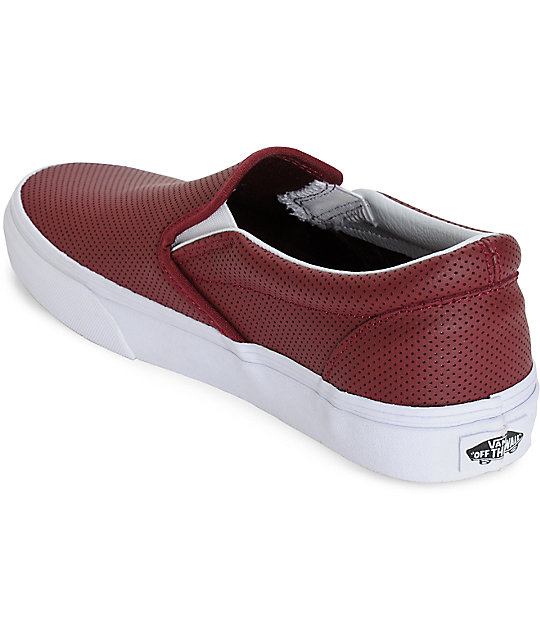 322b41d016 ... Vans Classic Port Perforated Leather Slip-On Shoes ...
