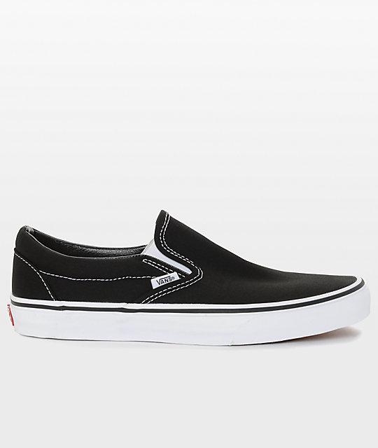 black classic slip on vans